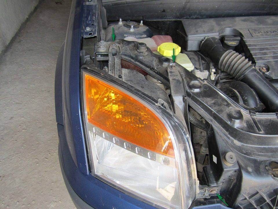 крепление фары ford fusion
